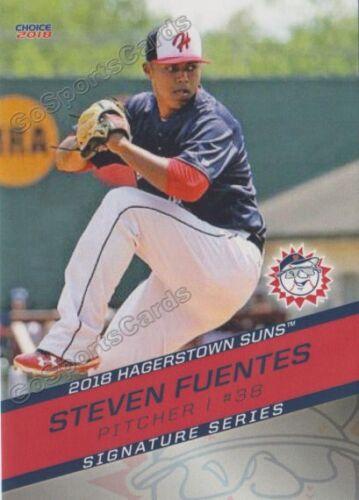 2018 Hagerstown Suns Steven Fuentes RC Rookie Washington Nationals