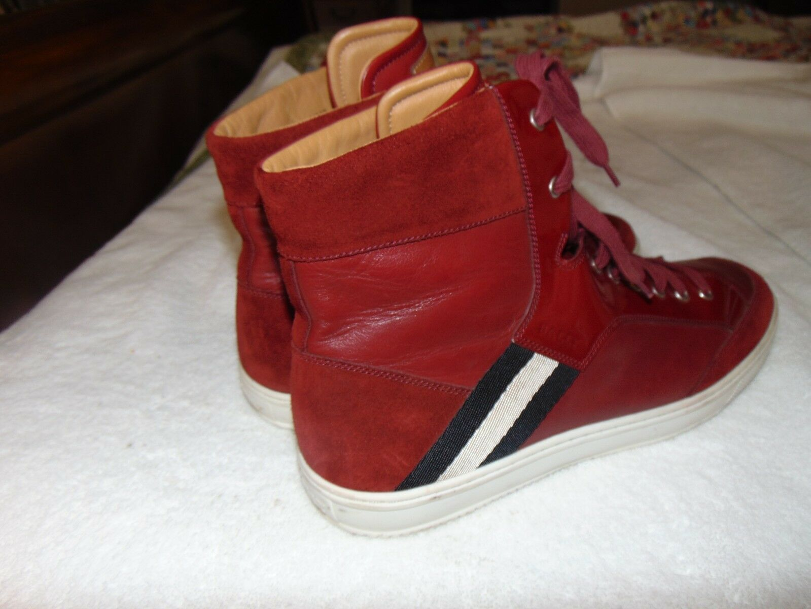 Classic 13 Bally Oldani ROT Mixed-Leder High-Top Sneaker 13 Classic D SOLD OUT 599 33db2e