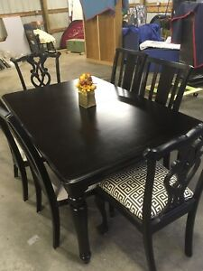 Image Is Loading Used Black Formal Dining Room Set