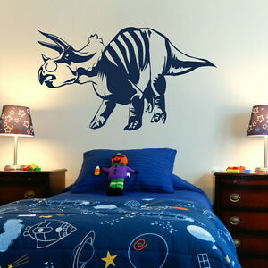 DINOSAUR TRICERATOPS LARGE WALL ART DECAL STICKER giant stencil vinyl mural Di2 - <span itemprop=availableAtOrFrom>Tamworth, Staffordshire, United Kingdom</span> - You Are welcome to return an order within 14 days if you are unhappy for any reason, should the return be due to an error by us we will pay return postage otherwise the bu - Tamworth, Staffordshire, United Kingdom