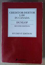 Creditor – Debtor Law in Canada (Dunlop) 2nd Edition