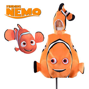 Kids Adult Nemo Fish Costume Toddlers Animal Mascot Costume Deluxe Fancy Dress
