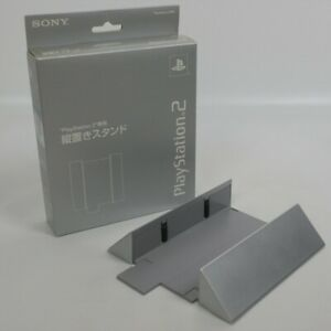 PS2-Official-Stand-Boxed-SONY-Playstation-2-Satin-Silver-SCPH-10040-JAPAN-0907