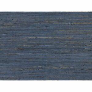 Wallpaper-navy-blue-brown-real-Natural-Grasscloth-wallcoverings-grass-cloth