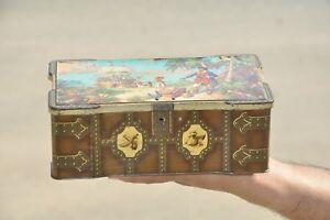 Vintage-039-The-World-039-s-Thorne-039-s-Premier-Toffee-039-Ad-Litho-Tin-Box-England