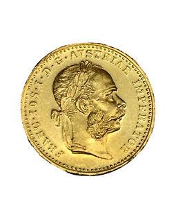 1915 Austria Gold Coin Franc ios idg Avstriae Imperator 3.5g 22K MS Gem BU