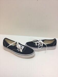 58aa570696 VANS Lo Pro Classic Black White Canvas Skate Shoes Men s Size 4.5 ...