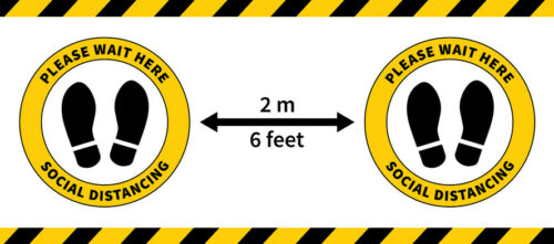 Social Distancing Floor Sticker for Safer Queuing Health /& Safety Retail Signs