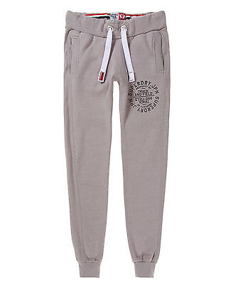 New Womens Superdry Unique Sample Track & Field Joggers Size Small Ash Snowy