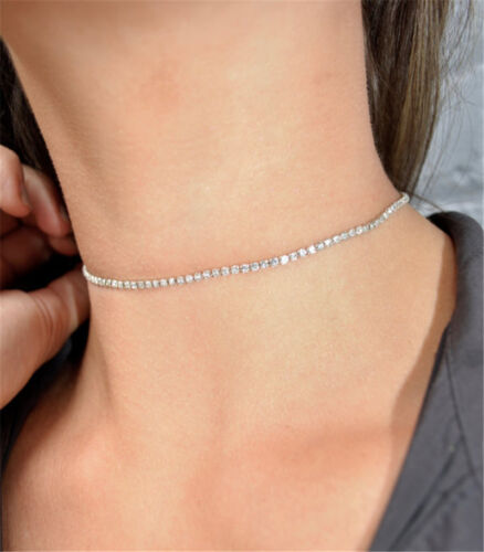 Crystal Bib Collar Choker Necklace Rhinestone Pendant Jewelry For Women New