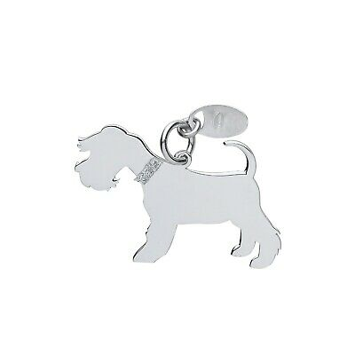 "Silver Schnauzer Dog Pendant Solid Silver 925 Stamp Pet Jewellery 14-30"" Chain"