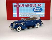 Minimarque Gta Models 1935 Auburn Supercharged Phaeton Blue Open Tourer Bnib