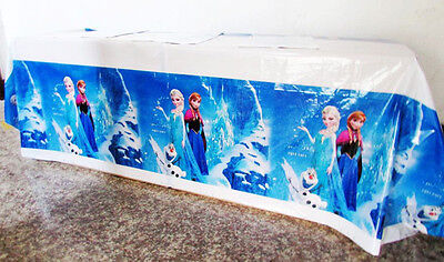 Frozen Elsa Birthday Party Supply Decoration Tableware Table Cloth Spread Cover
