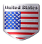 USA-American-Flag-Aluminium-Alloy-Badge-Decal-Emblem-Badge-Sticker thumbnail 2