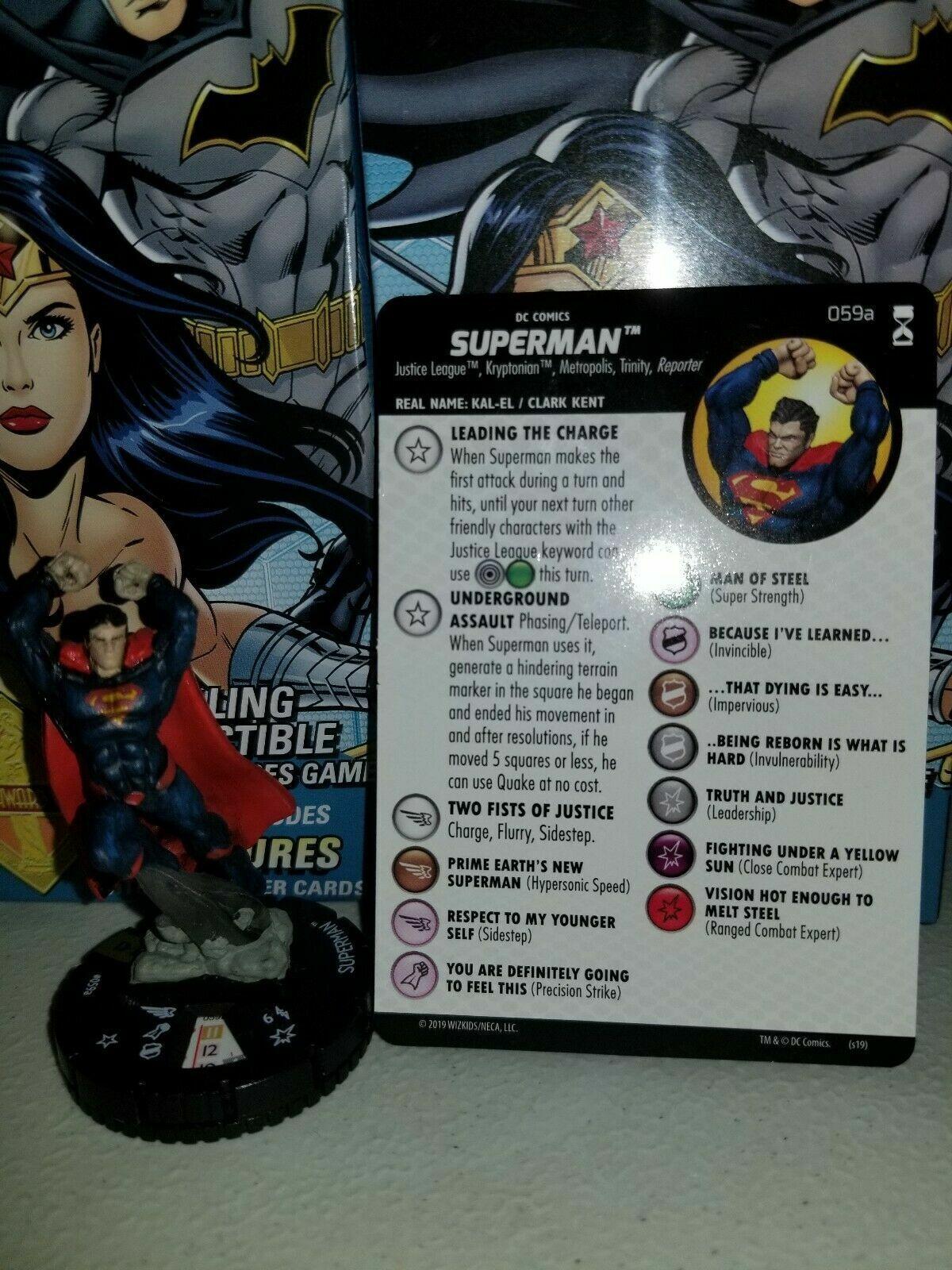 Heroclix Superman 059a DC Rebirth Super Rare 59a 059 a 59 SR