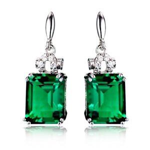 Gold Filled Green Tourmaline Drop Earrings