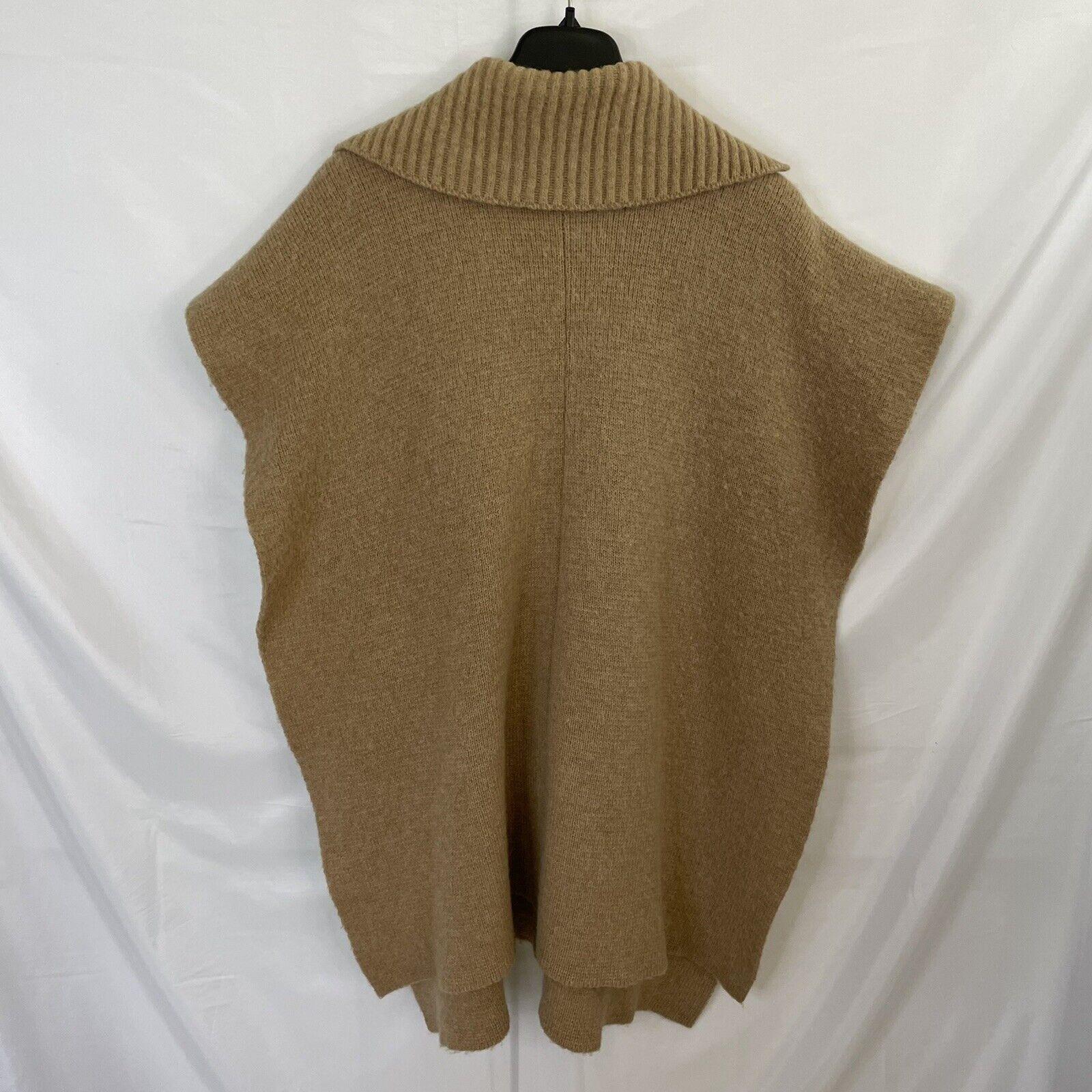 Bonnie Cashin Camel Knit Sweater Cape Poncho Coat - image 9