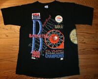 Vintage 1992 USA Olympic Dream Team Basketball Champions T-Shirt Men's Large