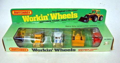 Matchbox  WORKIN 'Wheels  Giftset estados unidos 1983 maquinaria de construcción