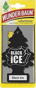 3 x Original WUNDERBAUM® Black Ice Lufterfrischer Duftbäumchen air freshener
