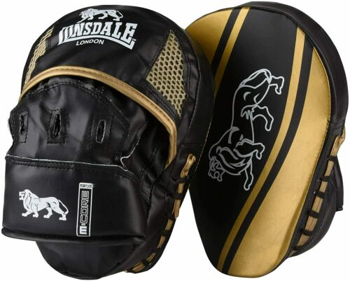 LONSDALE Black /& Gold Club Curved Hook And Jab Boxing Pads BNWT