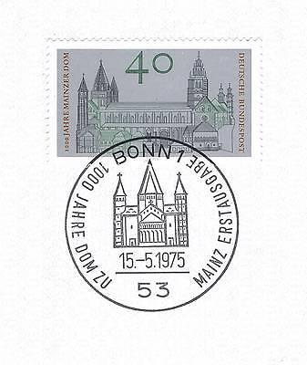 Brd 1975: Mainzer Dom! Nr. 845 Mit Sauberem Bonner Ersttags-sonderstempel 1a 153 Tropf-Trocken