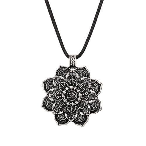2 Stücke Vintage Lotus Blume des Lebens Heiligen Anhänger Om Yoga Viking