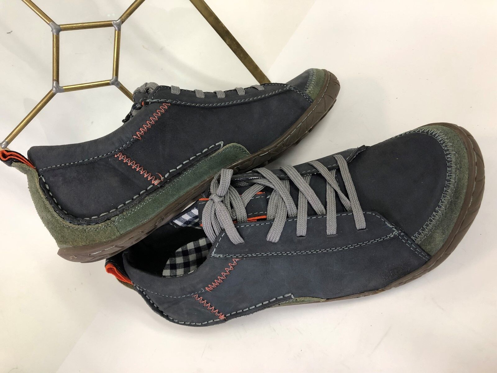 MUK LUKS BRYAN Mocasines Talla 11 Para Hombre Zapato De Cuero Nobuck Azul Usado En Excelente Condición
