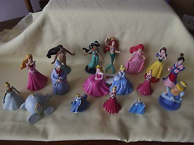 Lot of 16 Disney Princess PVC Figures: Cinderella, Snow White, Fairy God Mother