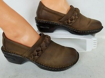 Comfort Shoes Earnest Born Women's Comfort Clogs Brown Leather Shoes Sz Us 9.5m To Have Both The Quality Of Tenacity And Hardness