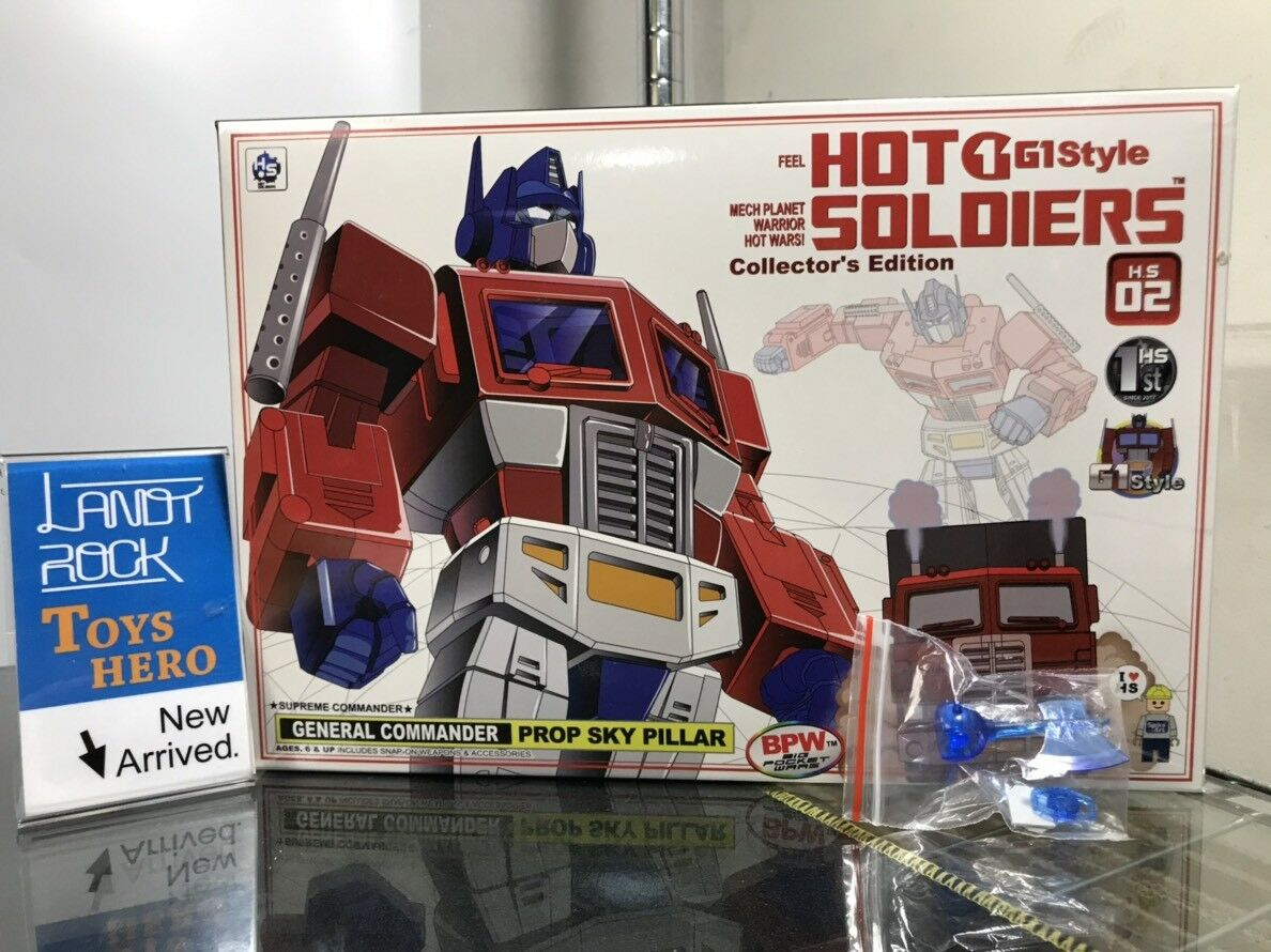 Juguetes héroe] en mano [Transformers Hot soldados HS-02 Optimus Prime Con Kit