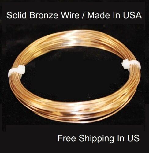 36 Ft. SOFT 16 Ga Bronze Wire 4 Oz Coil Made In USA Solid Bronze Round Wire