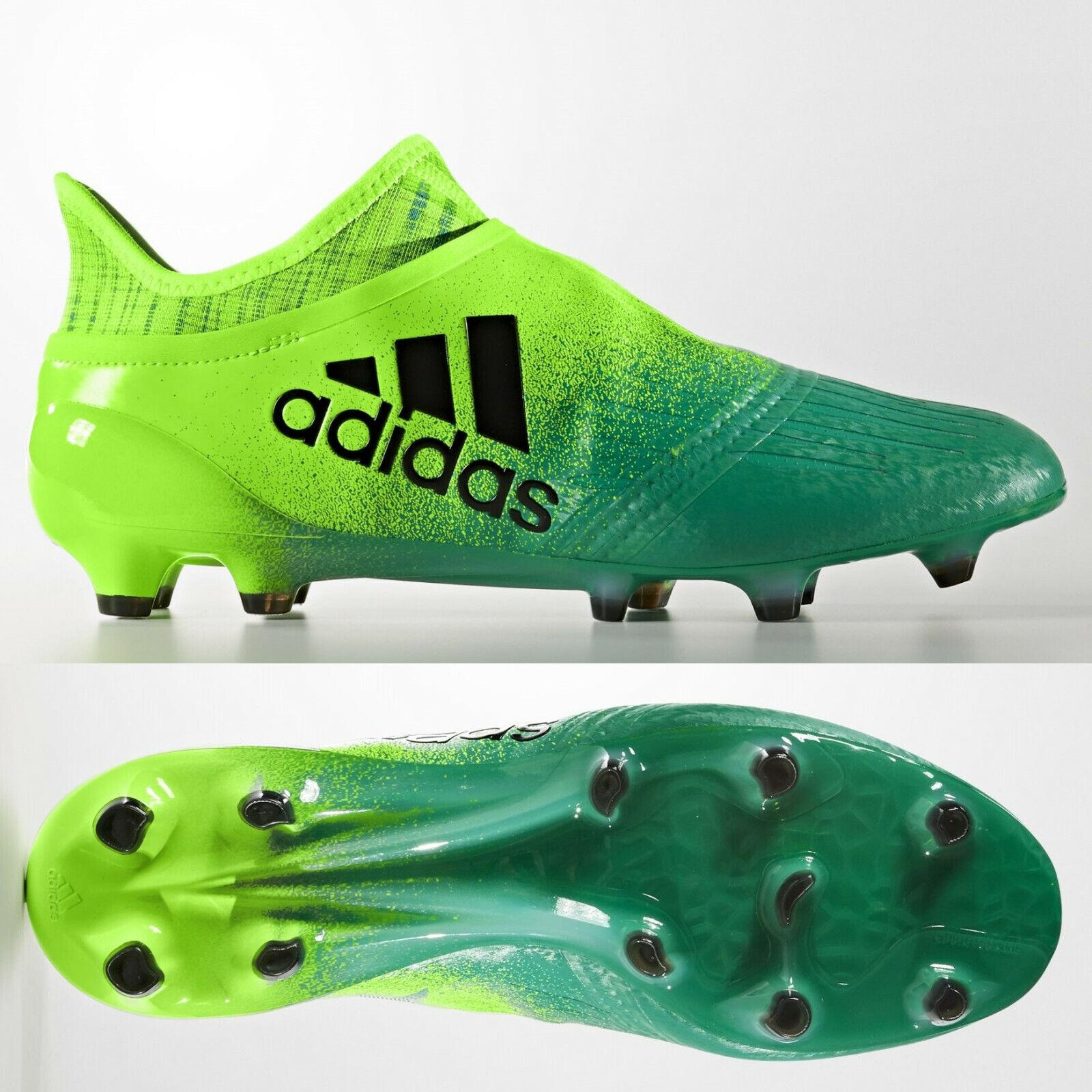 Adidas X 16+ purechaos FG botas de fútbol para hombre verde tierra firme BB1075 Talla 9