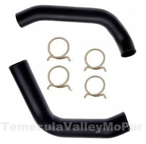 Details about Molded Radiator Hoses & OE-Style Clamps Set for 1970-1971  MoPar E-Body Big-Block