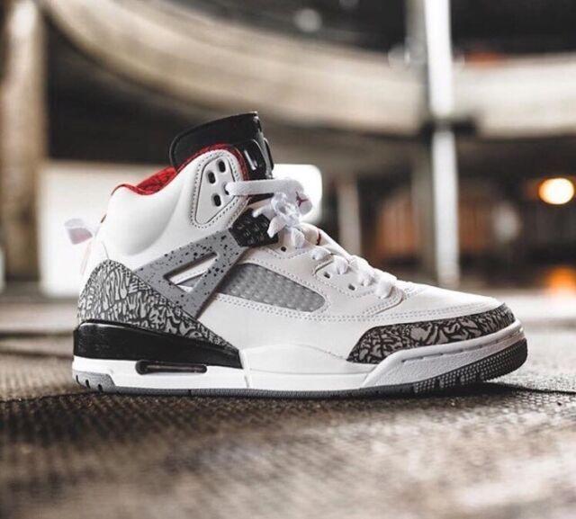 finest selection 470b8 85552 Nike Air Jordan Spizike OG White Cement 4 Throw Line 3 Black 88 NRG JTH 11  for sale online   eBay