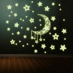Decal-Removable-Home-Glow-In-The-Dark-Wall-Stickers-Moon-and-Stars-Bedroom