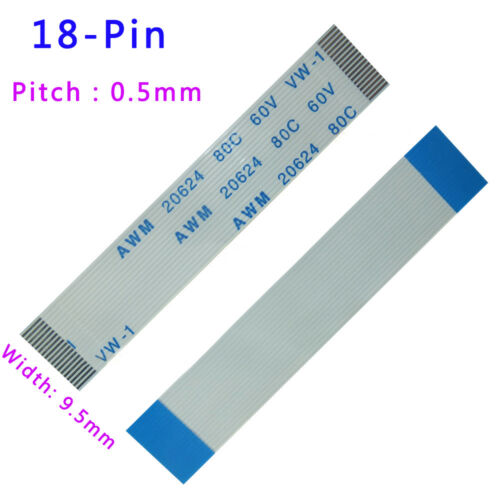 FFC//FPC Flexible Flat Cable Pitch 0.5mm 18Pin 80C 60V VW-1 50//80//1600mm-3000mm