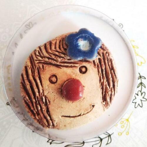 Keramik handgefertigt Schmunzelstein Glücksbringer Gastgeschenk