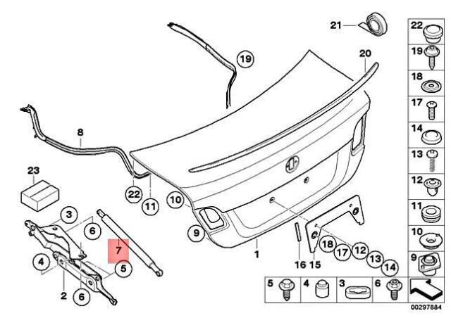 Zirgo 317968 Heat /& Sound Deadener for 72-81 e12 BMW Trunk Compartment Stg2 Kit 1 Pack