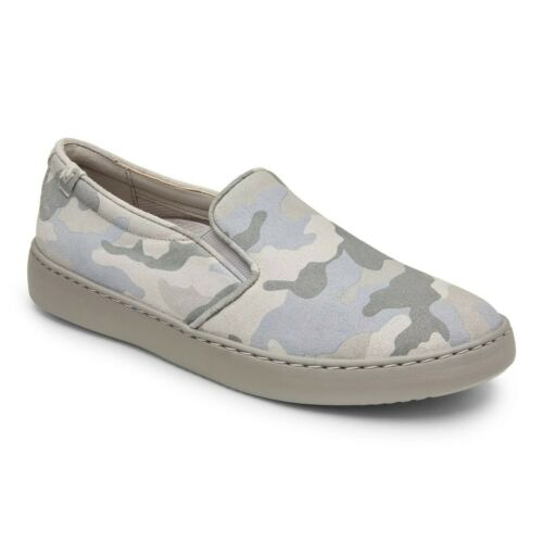 NEW VIONIC AVERY PRO SLIP ON SNEAKER SHOE WOMENS GREY BLUE CAMO ORTHOTIC SUPPORT
