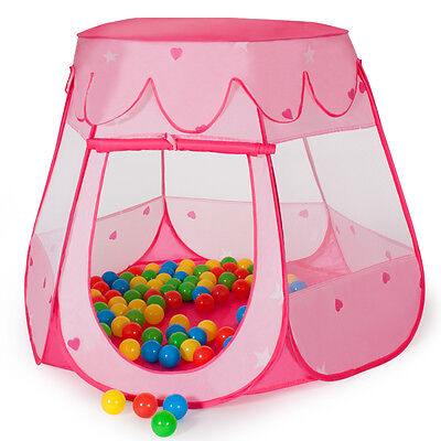 Kinderzelt Bällebad Babyzelt Spielhaus Spielzelt Gartenzelt + 100 Bälle + Tasche