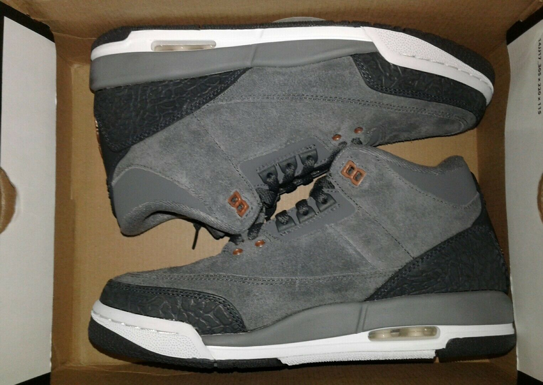 Nike air jordan 441140-035 3 retr gg ds 441140-035 jordan grigio scuro / mtlc in bronzo di dimensioni 6.5y rosso 75bea8