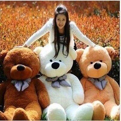 Plush Stuffed White Teddy Bear Huge Soft 100% Cotton Toys Birthday Gifts 80cm
