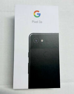 """NEW Google Pixel 3a 5.6"""" 64GB Just Black Unlocked Android Smartphone G020G"""