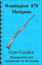 Remington 870 Manual Book Takedown Shotgun Disassembly Guide from Gun-Guides
