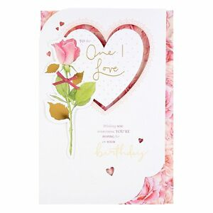 BEAUTIFUL Large Happy Birthday Card Girlfriend Wife Partner