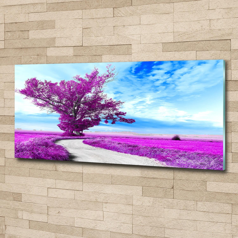 Murales de pantalla de vidrio de la impresión en 50 vidrio 125 x 50 en decorativos de flores  plantas árbol camino 1444dd