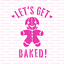 Lets Get Baked Christmas Cookie Stencil Durable /& Reusable Mylar Stencils