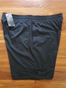 NWT$35 Under Armour Heatgear UA MK-1 Men's Shorts Black 1306434 001 L 2XL