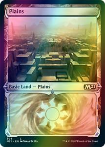 Plains Basic Land, SHOWCASE FOIL, Core Set 2021 M21, MTG, NM/M